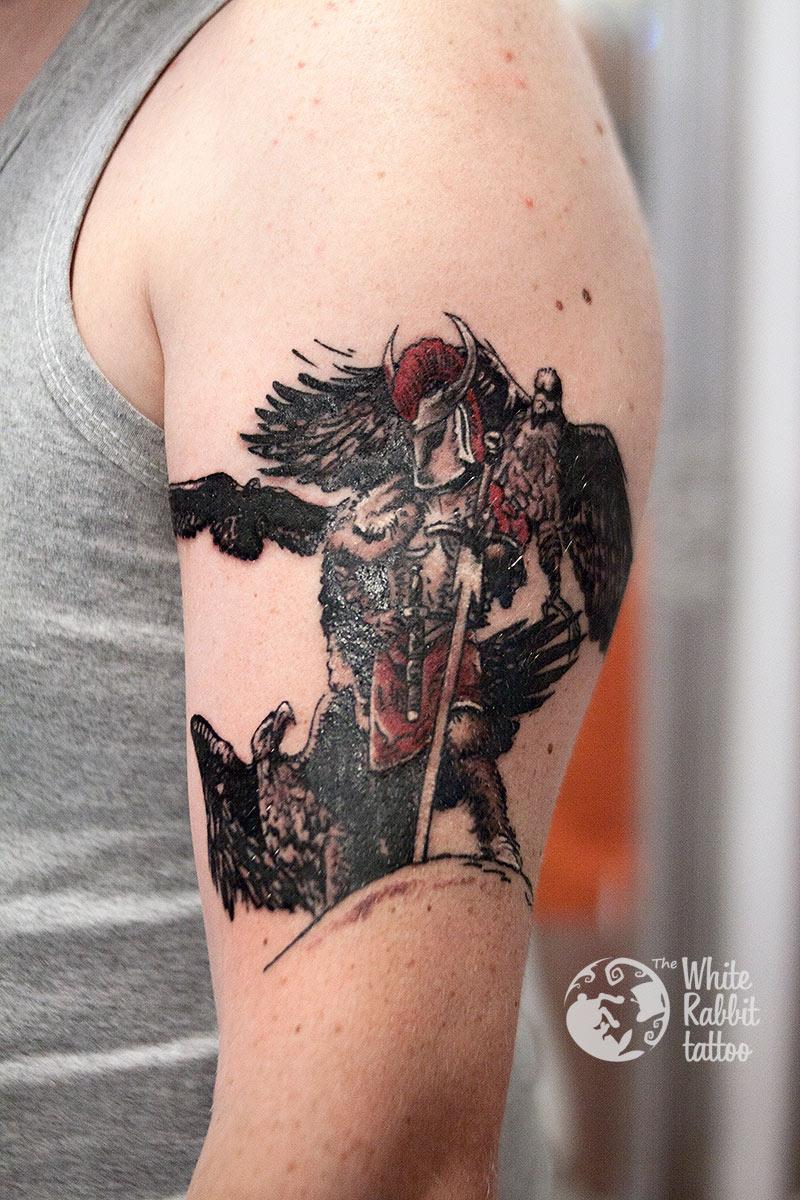 Tatuaż Thorgal Pan trzech orłów