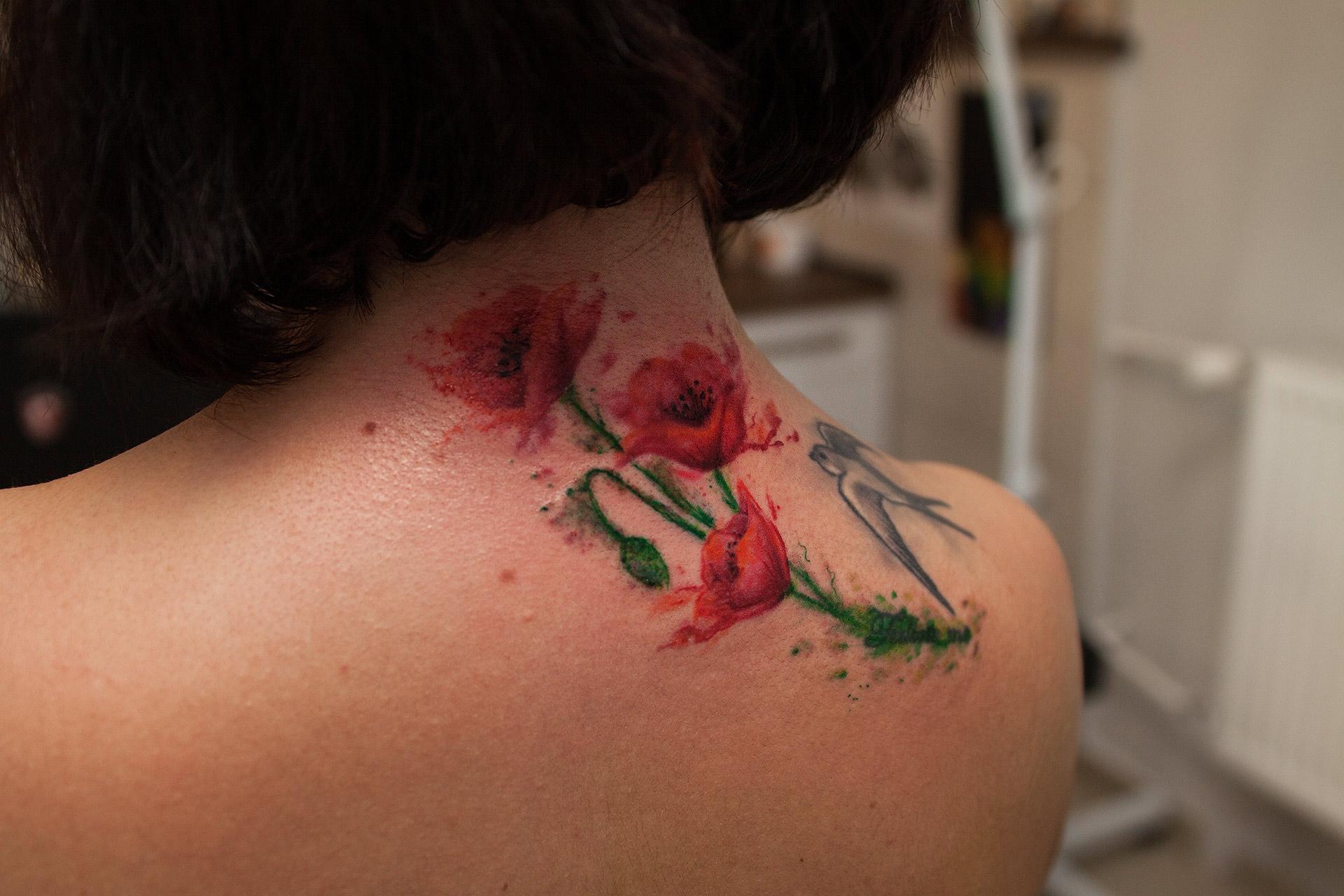 Plastyczne tatuaże - mak