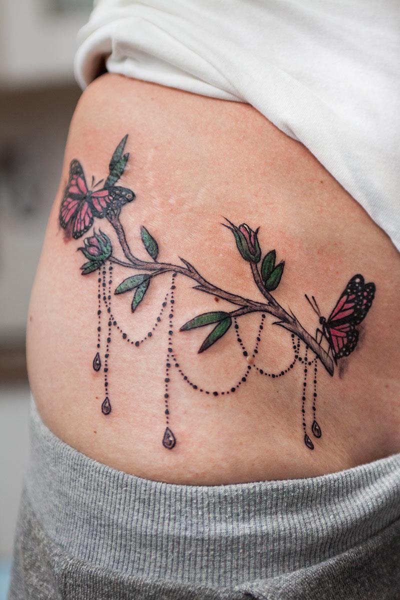 Tatuaż z motylem