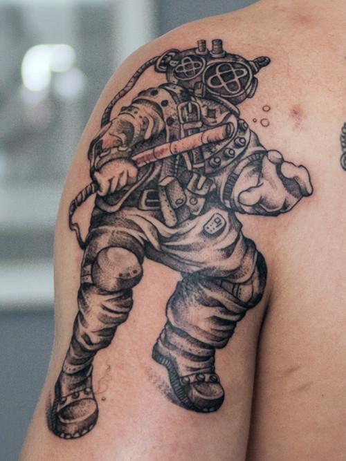 Tatuaż z nurkiem