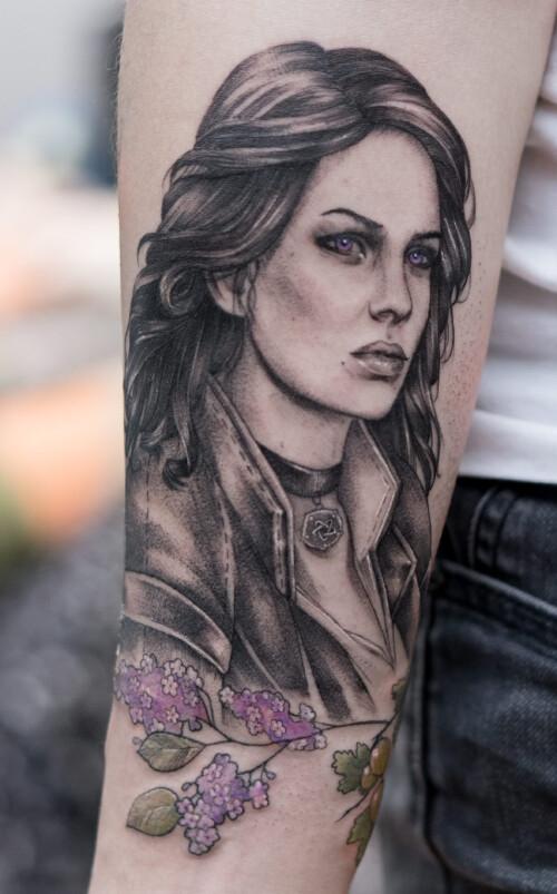 Tatuaż z Wiedźmina - Yennefer